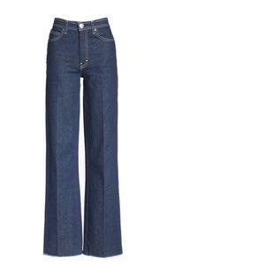 Rag and bone wide leg jeans